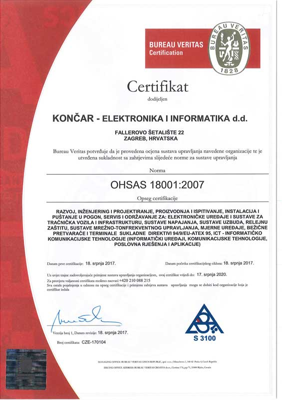OHSAS ISO 18001:2007